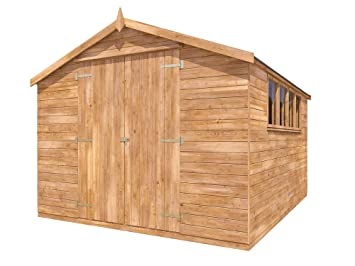 Dunster House Cobertizo de jardín Grande de 12 x 10 Pulgadas ...