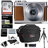 Canon PowerShot G9 X Mark II Digital Camera 20.1 MP Sensor & Wi-Fi Silver + Sandisk 32GB + Ritz Gear Case + Card Reader + Polaroid 8'' Tripod + Cleaning Kit + Memory Card Wallet + Bundle