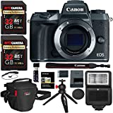 Canon EOS M5 Mirrorless Camera Body - Wi-Fi Enabled & Bluetooth, Ritz Gear Extreme SD 32GB 2 Pack, Camera Flash, Ritz Gear Photo Pack, Ritz Gear Tabletop Tripod, Card Reader and Accessory Bundle