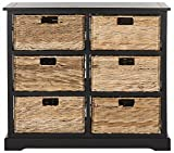 Product review for Safavieh American Homes Collection Keenan Distressed Black 6 Wicker Basket Storage Chest