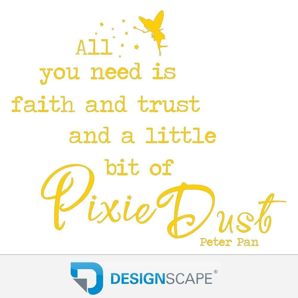 DESIGNSCAPE® Wandtattoo All you need is faith and and and trust an a little bit of Pixie Dust - Peter Pan Zitat 90 x 77 cm (Breite x Höhe) braun DW802125-M-F9 B01FSB76ES Wandtattoos & Wandbilder 388768