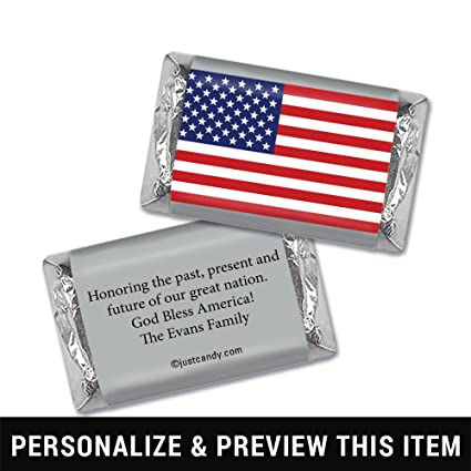 Amazoncom Patriotic Candy Personalized American Flag