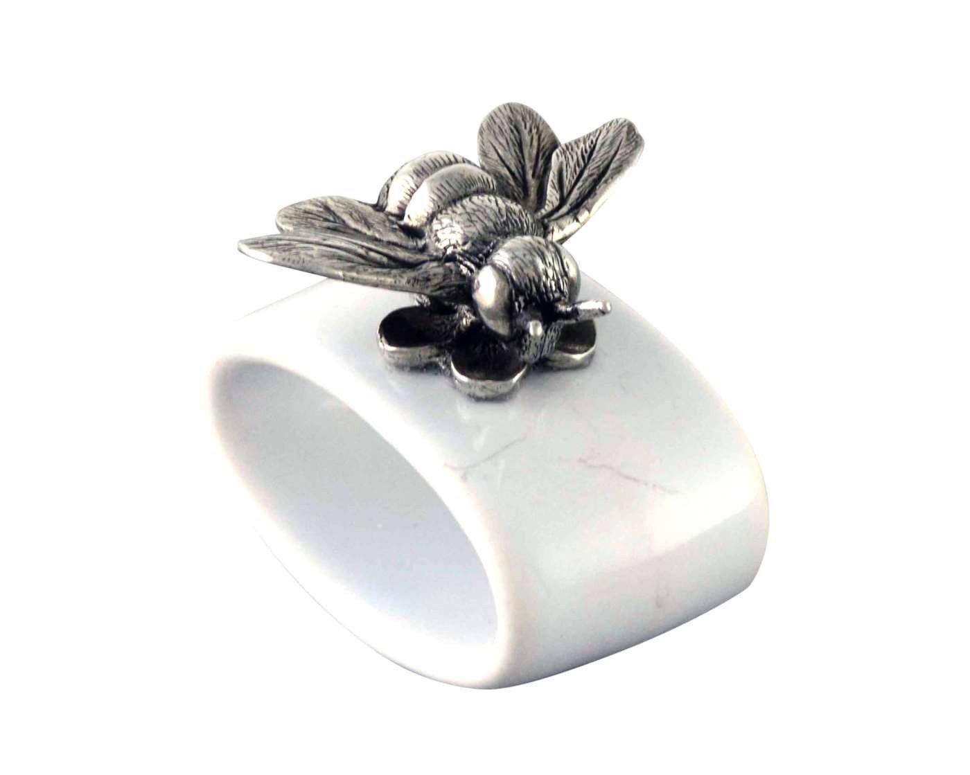 Vagabond家ピューターBee Stoneware Napkin Ring 2