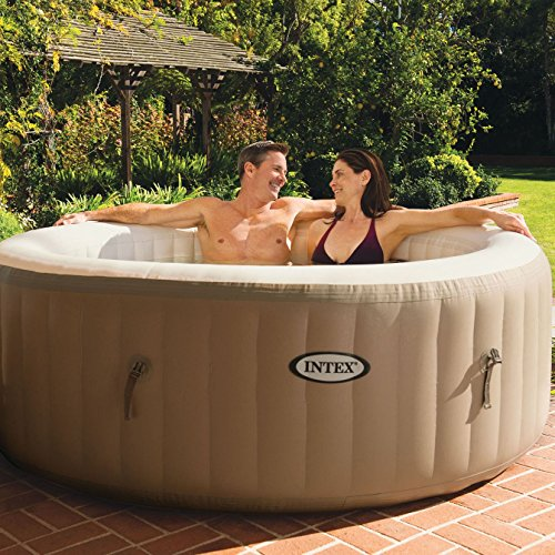 Intex PureSpa 4-Person Inflatable Jet Spa Hot Tub w/Inflatable Headrest Pillow