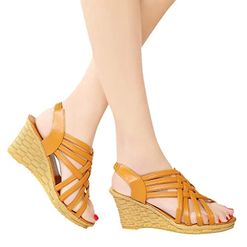 e68115a9d36 Amazon.com | Espadrille Wedges, NEWONESUN Women's Casual Open Toe ...