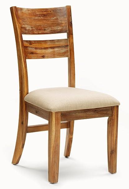 Amazon.com - Cochrane Ladderback Side Chair, Fabric Seat ...