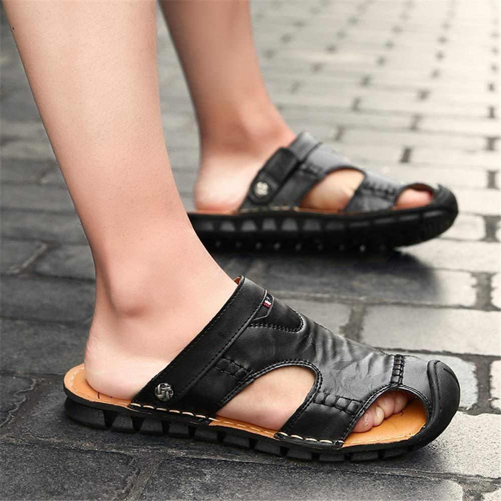 HILOTU Herrenmode Sandale L/ässig Komfortable Reine Farbe Atmungsaktive Weiche Strand Hausschuhe Fischer Sandalen