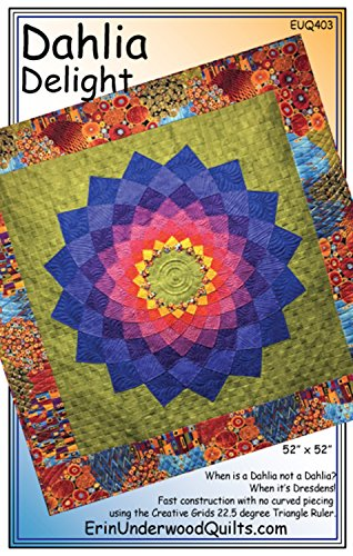 Dahlia Delight Quilt Pattern by Erin Underwood Quilts (Giant Dahlia Quilt)
