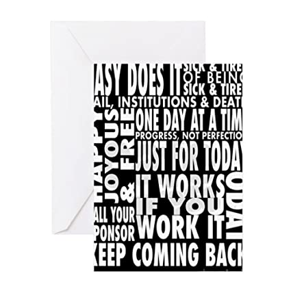Amazon Cafepress 12 Step Slogans Greeting Card Note Card