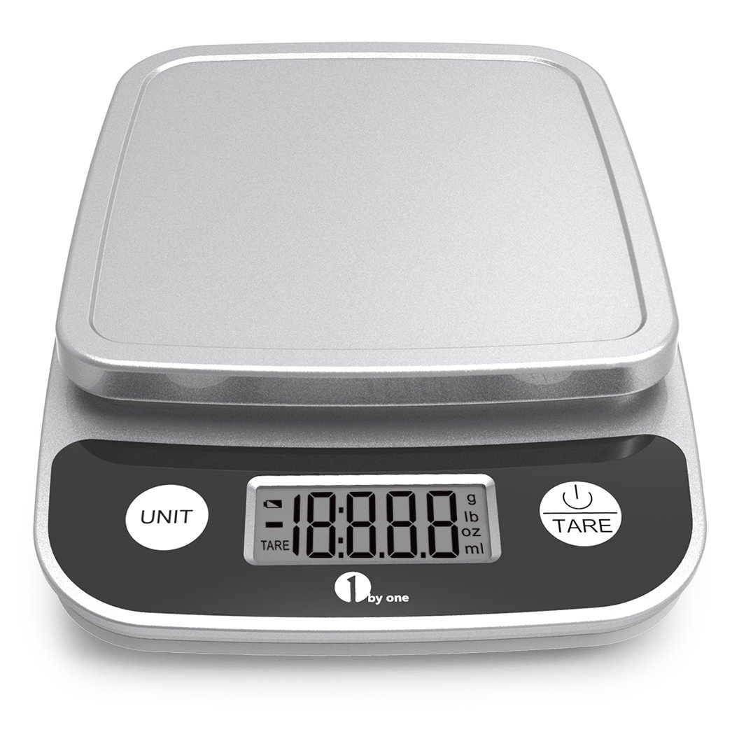 1byone Digital Kitchen Scale Precise Cooking Scale and Baking Scale, Multifunction with Range From 0.04oz to 11lbs, Elegant Black by 1byone