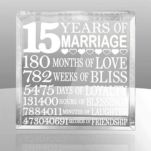 15 Year Wedding Anniversary Gifts: 15th Anniversary Gifts: Amazon.com