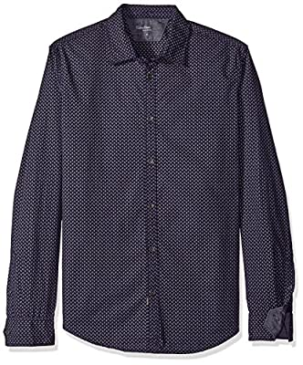 Calvin Klein Jeans Men's Countdown Print Long Sleeve Button Down Shirt