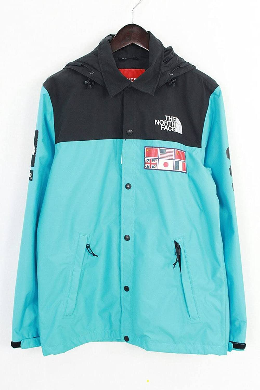 (シュプリーム) SUPREME ×ノースフェイス/THE NORTH FACE 【14SS】【Expedition Coaches Jacket】MAP国旗エクスペディションコーチジャケット(S/ターコイズ) 中古 B07FBBDVG1  -