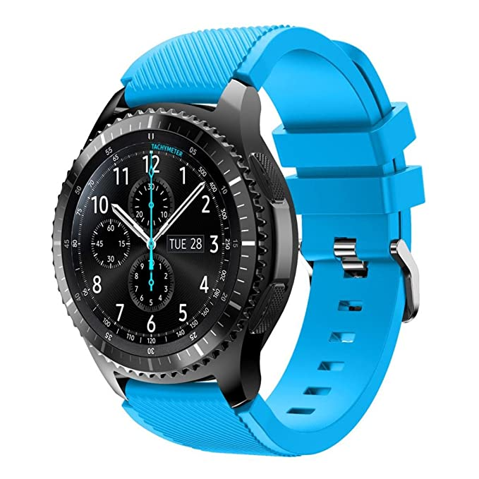 Amazon.com: Samsung Gear S3 Frontier Replacement Watch Band, Lookatool Fashion Sports Silicone Bracelet Strap Band Samsung Gear S3 Frontier (Sky Blue): Cell ...