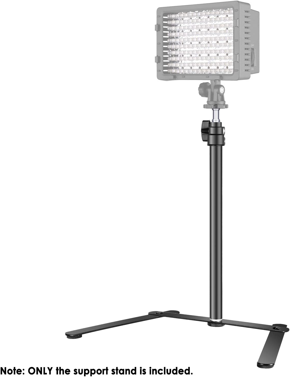 Photo Video Shooting Aluminum Alloy Neewer Tabletop Light Stand Clip Stand with 1//4inch Screw for Ring Light and LED Light Adjustable 12.5-20.6 inches//32-52cm for Make Up Live Streaming