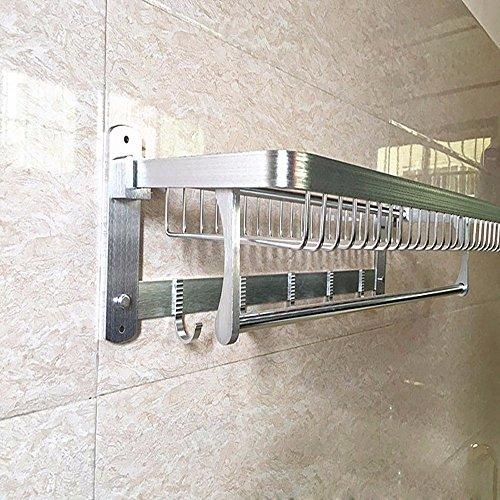 KHSKX Rack space aluminum metal pendants Towel rack bathroom Towel rack bathroom activities Towel rack well-wreapped
