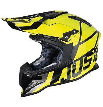 JUST1 casco J12 unidad 58-M, amarillo, tamaño M