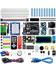 Smraza Super Starter Kit Compatible with Arduino Project with Tutorial, Including Breadboard, Power Supply, Jumper Wires, Resistors, LCD 1602, Sensors