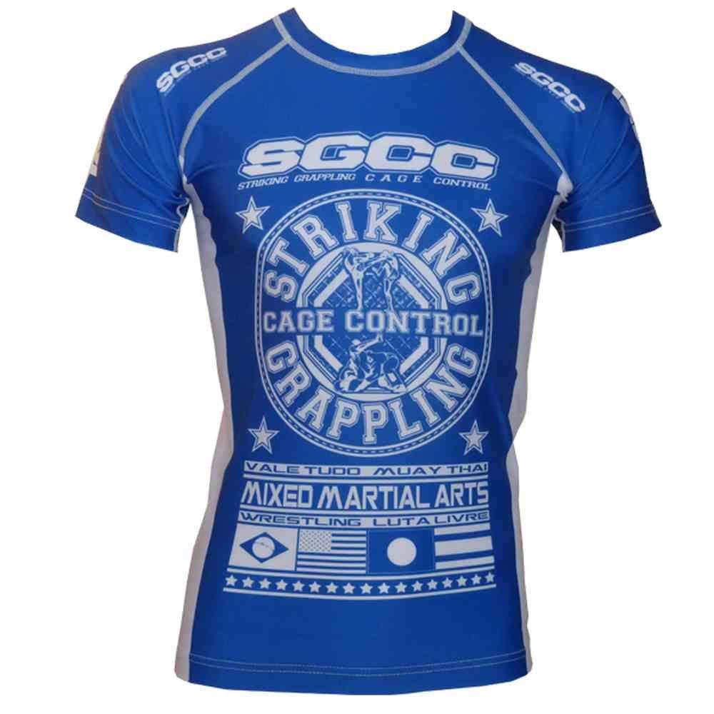 SGCC - SGCC Rashguard Grand Prix Blue - RGPBL -Tshirt MMA