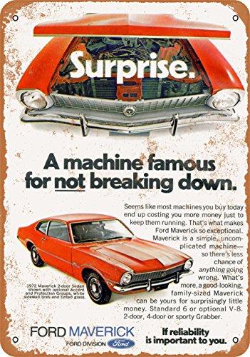 Wall-Color 7 x 10 Metal Sign - 1972 Ford Maverick - Vintage -