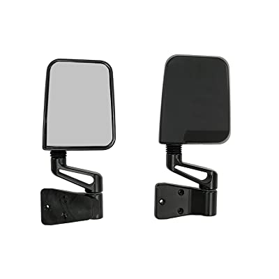 Rugged Ridge 11002.03 Factory Style Black Side Mirror - Pair: Automotive