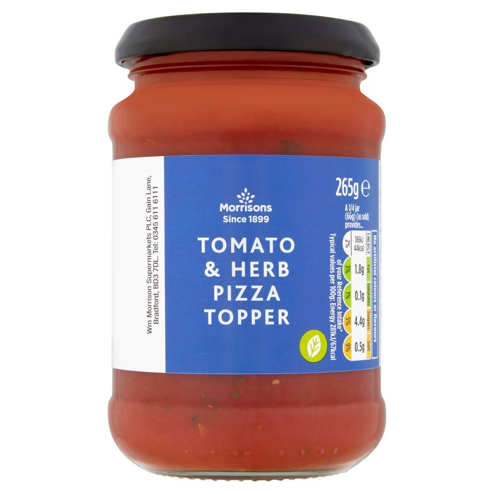 Morrisons Tomato And Herb Pizza Topper 265g Amazoncouk