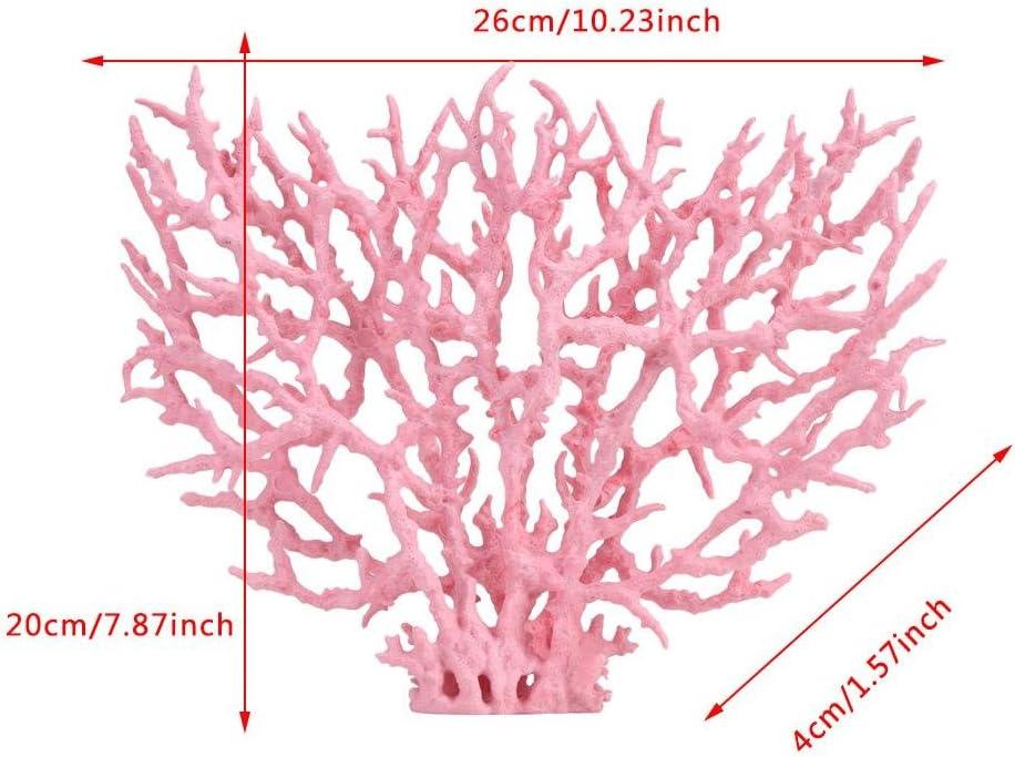 Mumusuki Artificial Coral Plant Plastic Vivid Fish Tank Garden Lands Aquarium Underwater Plants Water Decoration S-Pink