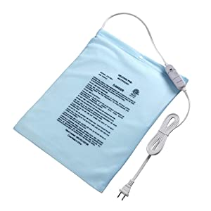 "Electric Heating Pad Fast Heat with On/Off Switch Controller, Boncare Moist/Dry Heat for Neck Shoulders Back Pain, Machine Washable Cover, Large Size 12'' x 15""(Sky Blue)"