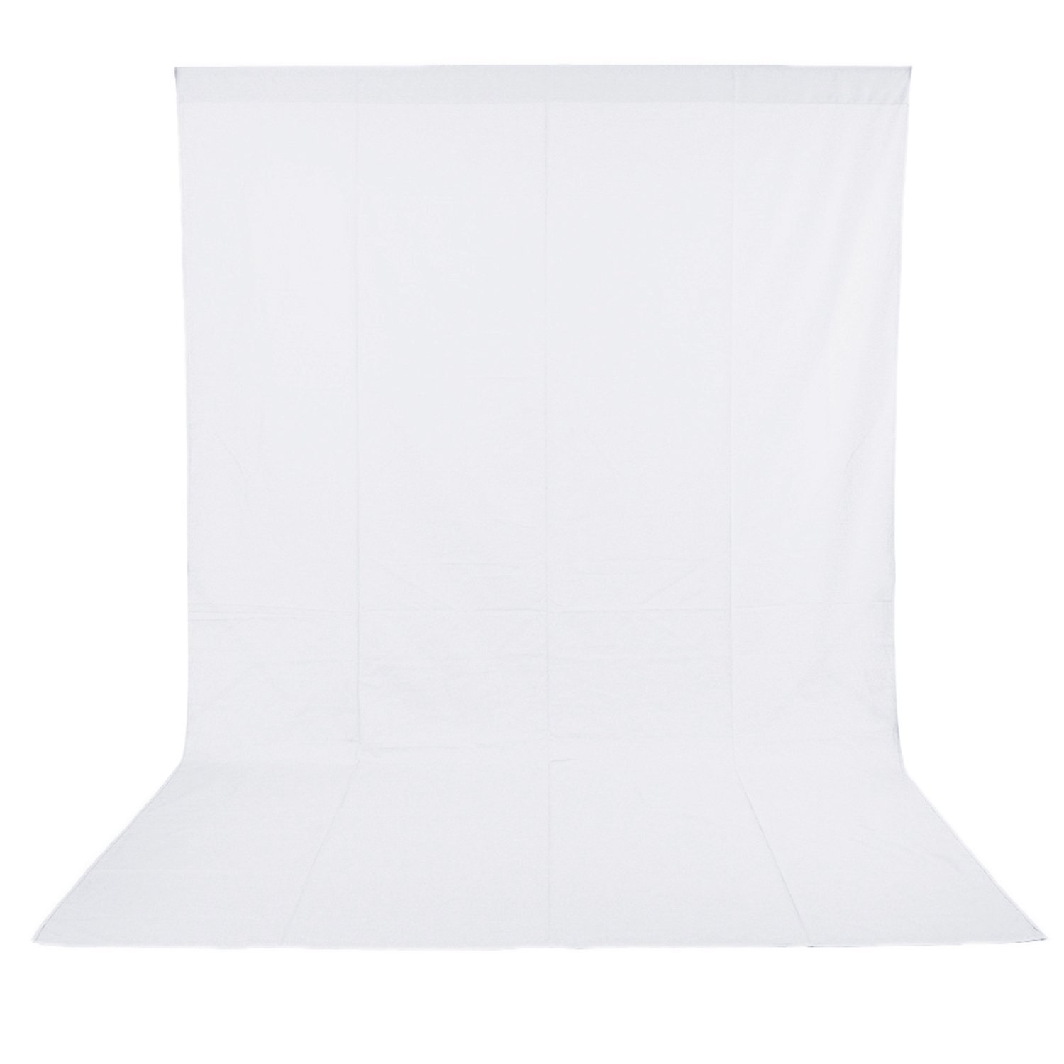 Neewer 10 x 20FT / 3 x 6M PRO Photo Studio 100% Pure Muslin Collapsible Backdrop Background for Photography,Video and Televison (Background ONLY) - WHITE by Neewer (Image #1)
