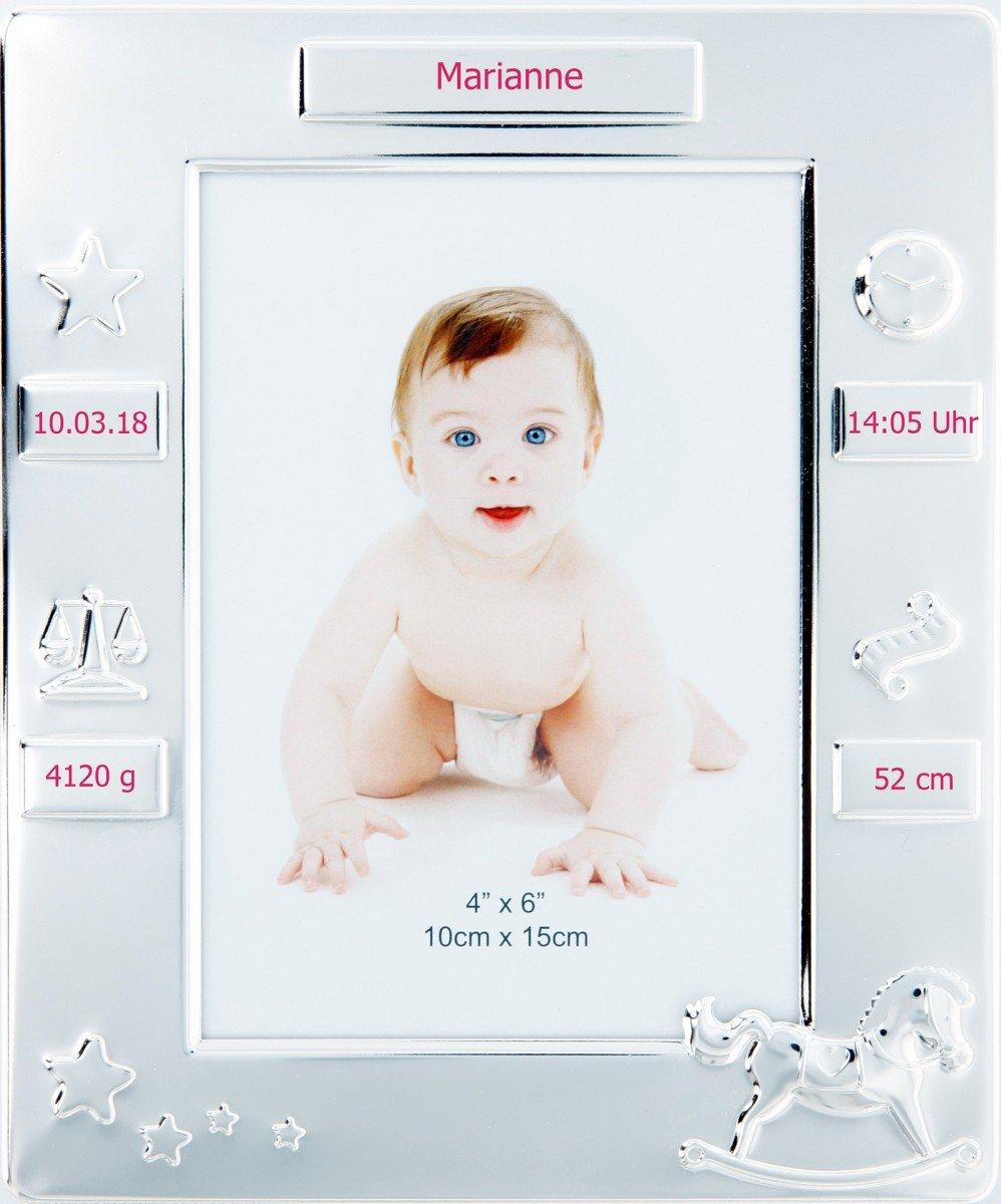 Taufrahmen, Baby-Bilderrahmen, Geschenke zur Taufe, Geburt mit Namen ...