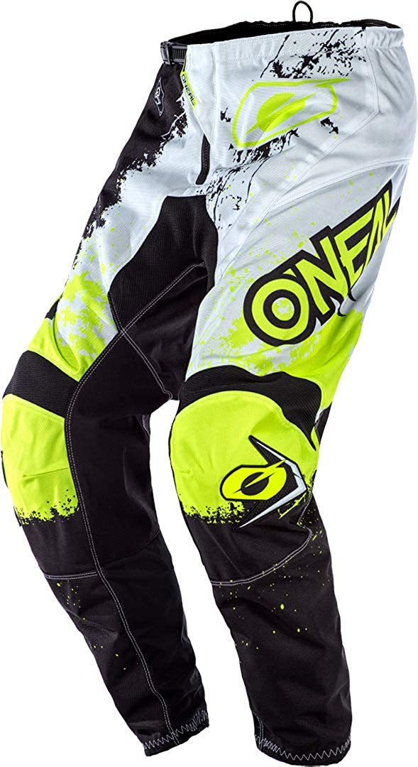 ONEAL Element Impact MX DH MTB Pant Hose lang schwarz//wei/ß//gelb 2020 Oneal