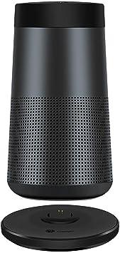 SimpleLife Revolve Cuna de Carga//Cargador Muelle de Carga//Servicio Pesado Cuna de Carga inal/ámbrica para Bose SoundLink Revolve//Revolve-Black 10,6 cm x 10,6 cm x 1,5 cm