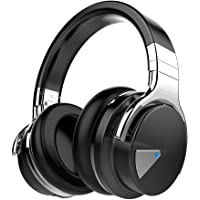 COWIN E7 Active Noise Cancelling Bluetooth Headphones with Mic Hi-Fi Deep Bass Wireless Headphones Over Ear, Comfortable Protein Earpad, 30 Hours Playtime for Travel Work TV Computer Phone - Black