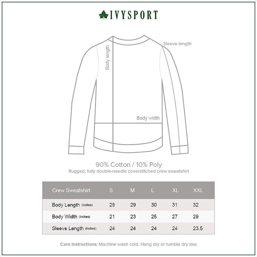 Premium Color Heavyweight Cotton Blend Fleece Ivysport Crewneck Sweatshirt Classic Arch Logo
