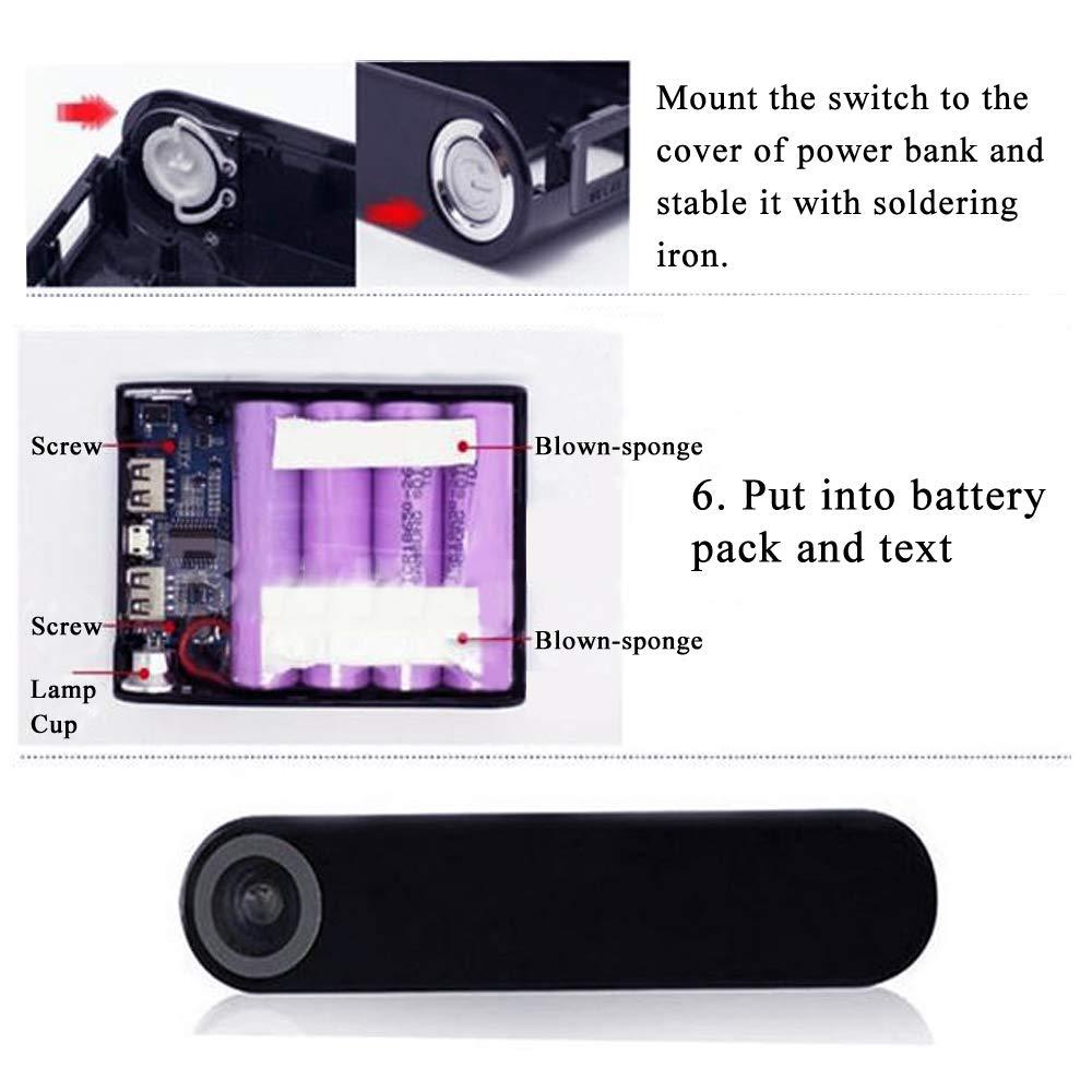 MakerHawk 18650-Battery Charger Box Kit de Bricolaje, Pantalla LCD portátil, Incluye 2 unids Dual USB 5V 1A 2.1A 18650-Módulo de PCB de Placa de ...
