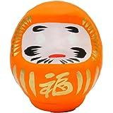 高崎だるま かわいいだるま カラーだるま0.5号 オレンジ