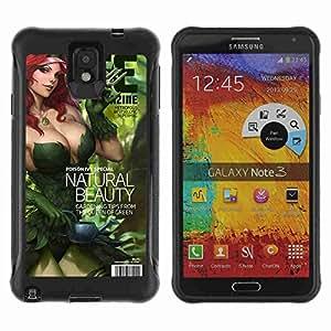 A-type Arte & diseño Anti-Slip Shockproof TPU Fundas Cover Cubre Case para Samsung Galaxy Note 3 III / N9000 / N9005 ( Cool Poison Ivy Bat Cover )