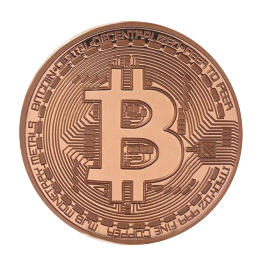 Connoworld Alloy Commemorative Art Round Collectible Coin Gift for Bitcoin BTC Enthusiast - Rose Gold