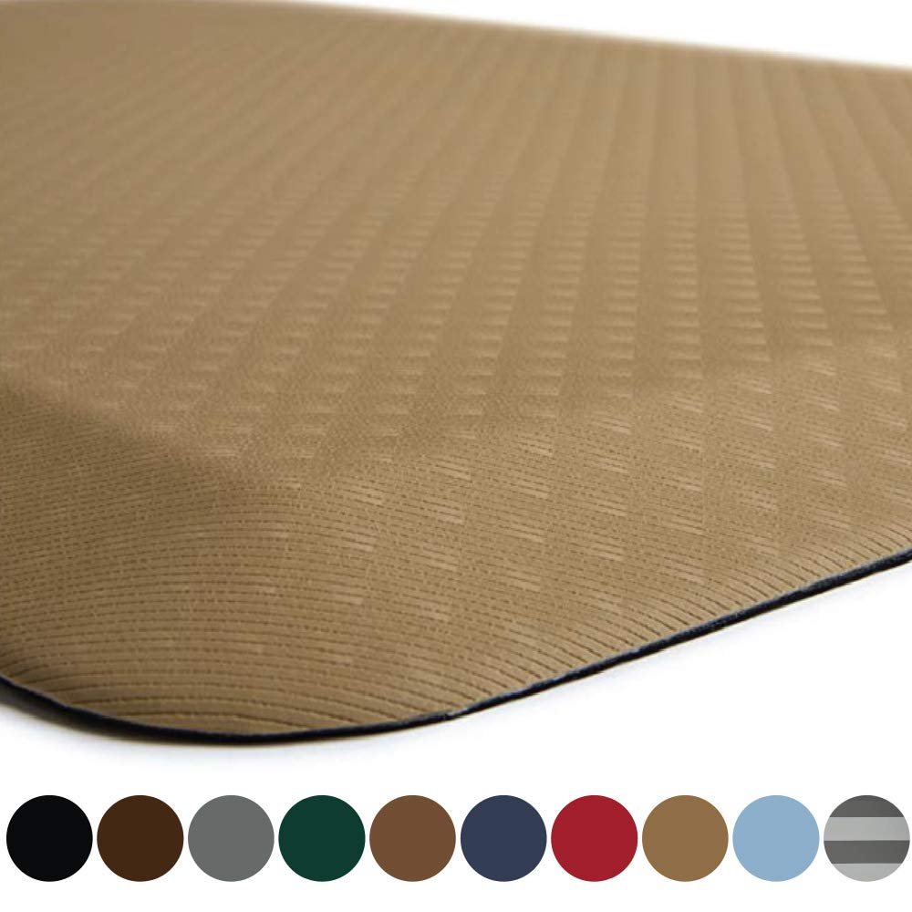 Kangaroo Original Standing Mat Kitchen Rug, Anti Fatigue Comfort Flooring, Phthalate Free, Commercial Grade Pads, Waterproof, Ergonomic Floor Pad for Office Stand Up Desk, 39x20, Sand