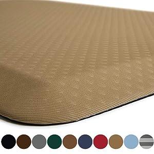Kangaroo Original Standing Mat Kitchen Rug, Anti Fatigue Comfort Flooring, Phthalate Free, Commercial Grade Pads, Waterproof, Ergonomic Floor Pad for Office Stand Up Desk, 39x20, Sand