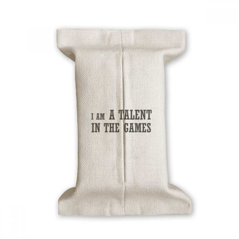 DIYthinker I Am A Talent Games Tissue Paper Cover Cotton Linen Holder Storage Container Gift