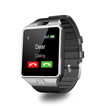 10d62e68a0a Amazon.com  DZ09 Smart Watch Android Sim Card Slot Smartwatch with TF Card  Camera by Heshi Inc  Electronics