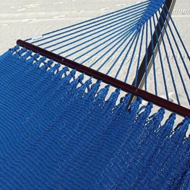 Double Caribbean Hammock - 48 inch - soft-spun polyester - dark blue
