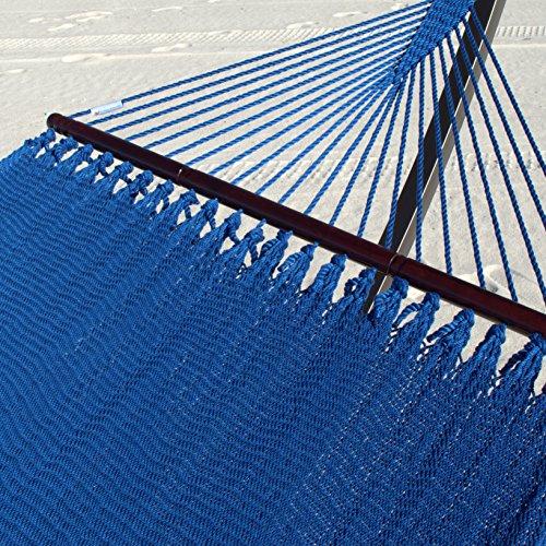Double Caribbean Hammock - 48 inch - soft spun polyester - dark blue - Caribbean Hammock