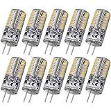 Rayhoo 10 piezas G4 48-LED juego de luz blanca cálida Bombilla electrificadas de cristal de 3 Watt CC 12 V non…