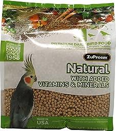 ZUPREEM 230354 Natural Medium Bird Food, 20-Pound