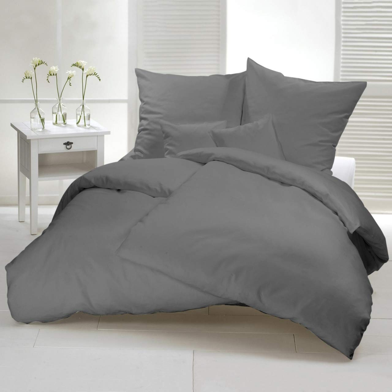 Bettwäsche 150x200 200x200 220x240 Bettbezug Kissenbezug Bettgarnitur 3tlg Neu