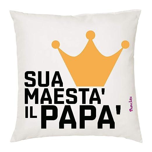 Cojín de 40 x 40 cm con Texto en francés SUA maesta il Papa ...