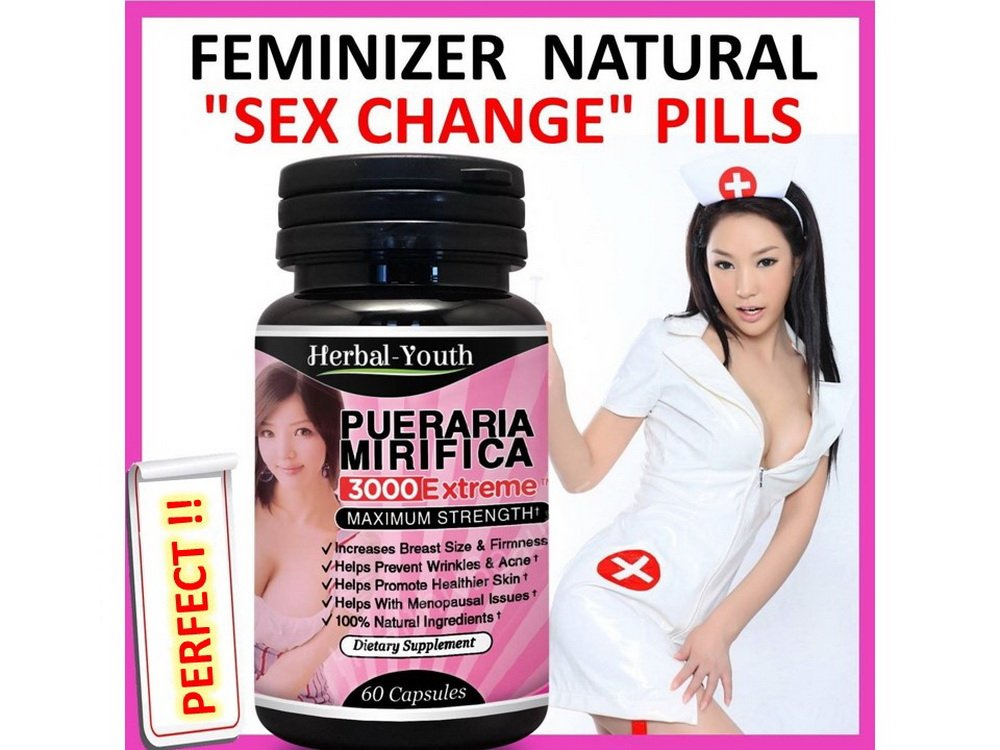 Female Hormone Estrogen Breast Enlargement HERBAL FEMINIZER SEX CHANGE Capsules by Herbal Young