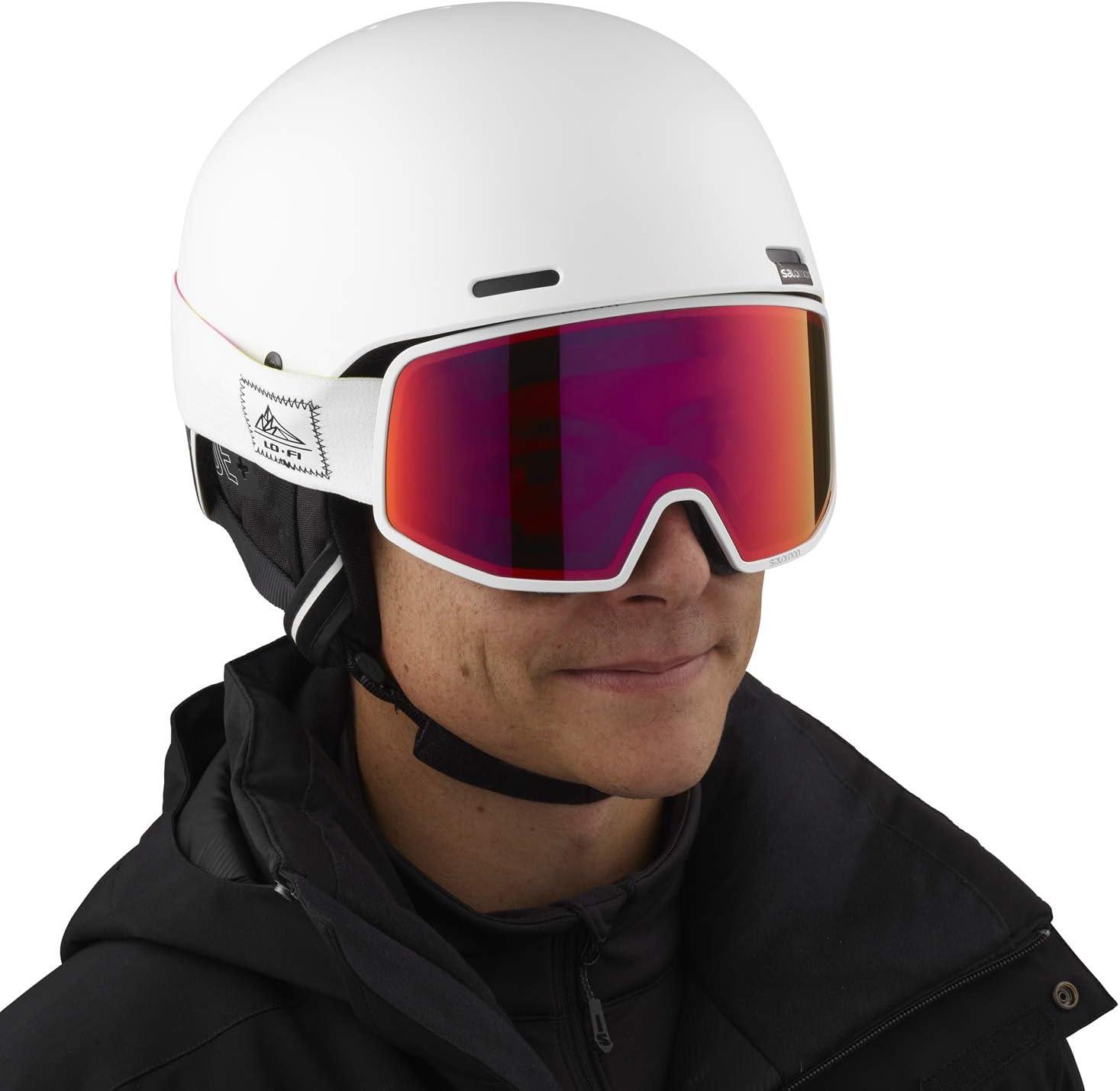 Circunferencia Tecnolog/ía Smart Carcasa ABS XL Salomon Brigade+ Casco de esqu/í y Snowboard para Hombre Blanco 62-64 cm